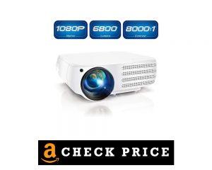 Poner 1080 P Native Lumens HDMI Movie Projector